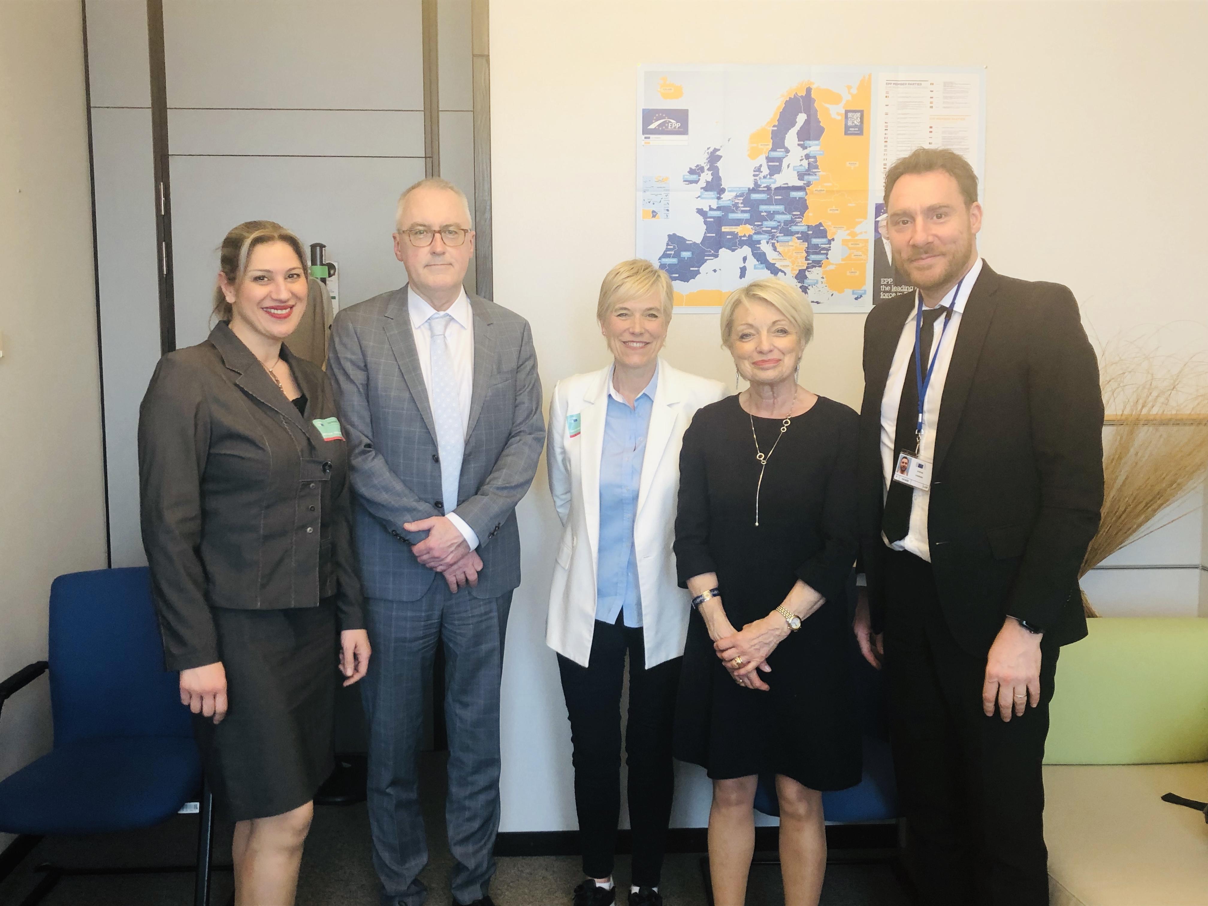 La LCO à la Commission européenne à Bruxelles.