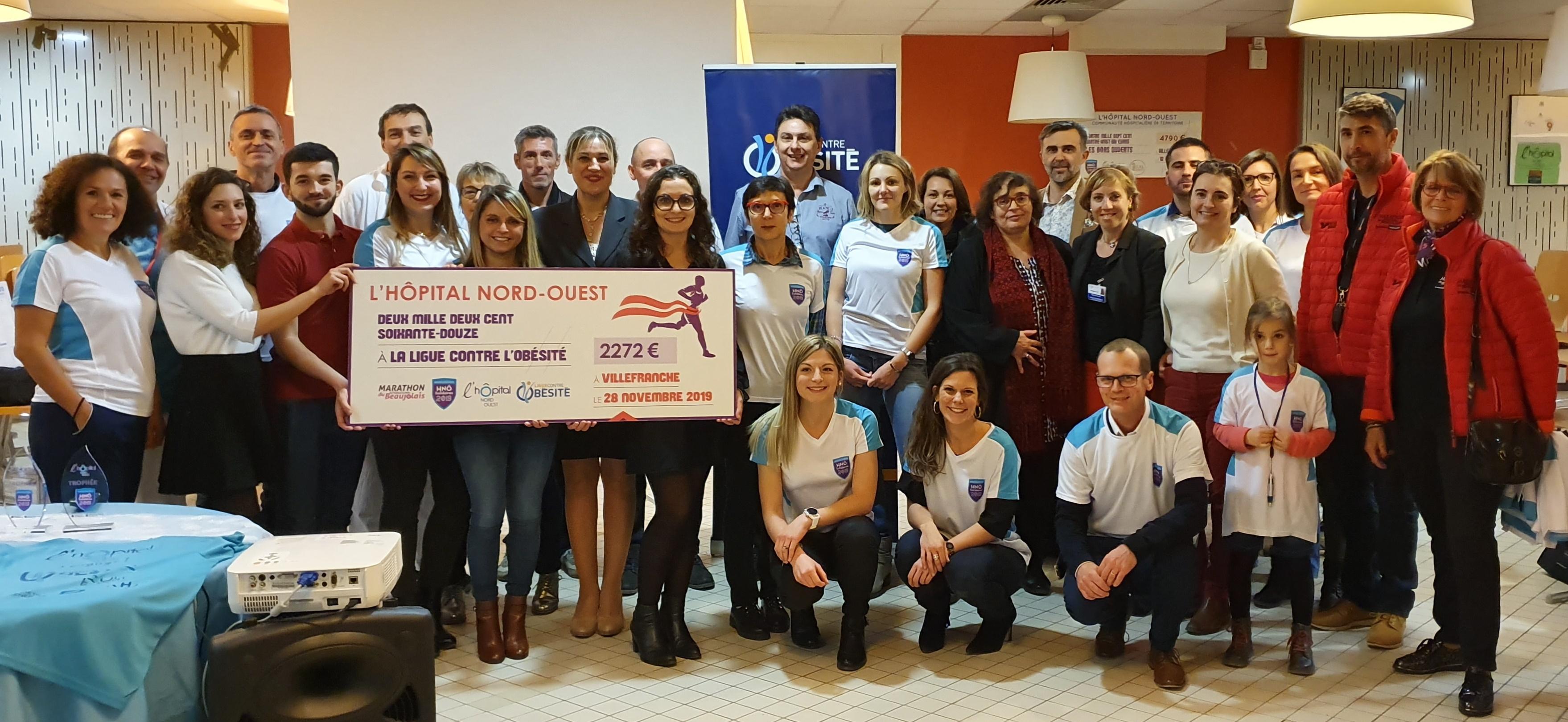 Marathon du Beaujolais : le joli don des agents hospitaliers