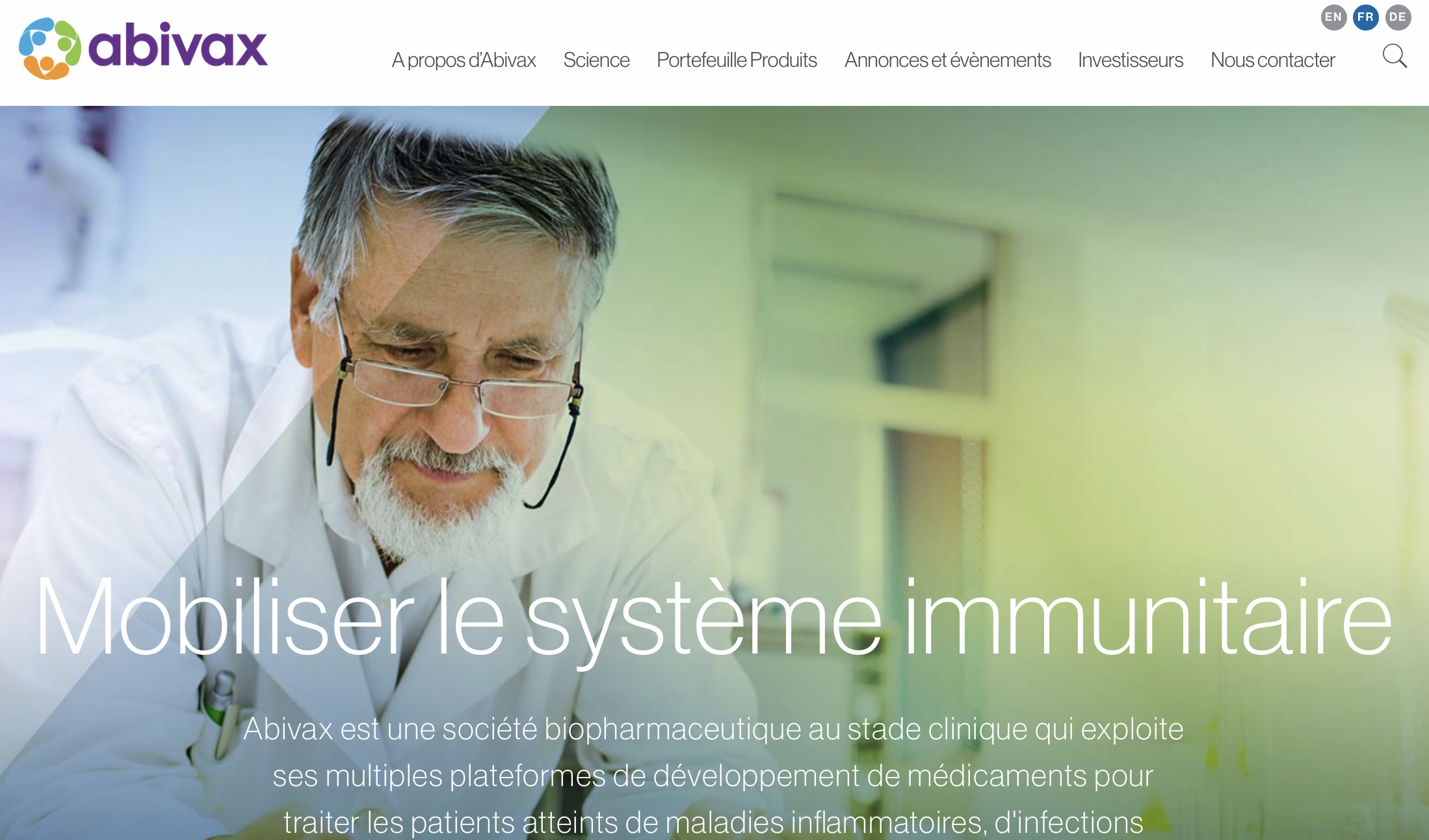 Les autorités sanitaires françaises (ANSM) et le Comité d'Ethique français (CPP) viennent de donner à l'entreprise biotechnologique Abivax, basée à Montpellier et à Paris, l'autorisation de lancer une étude clinique avec ABX464 pour lutter contre le Covid-19. Cette molécule offrirait un triple effet : anti-viral, anti-inflammatoire et permettant la réparation tissulaire.