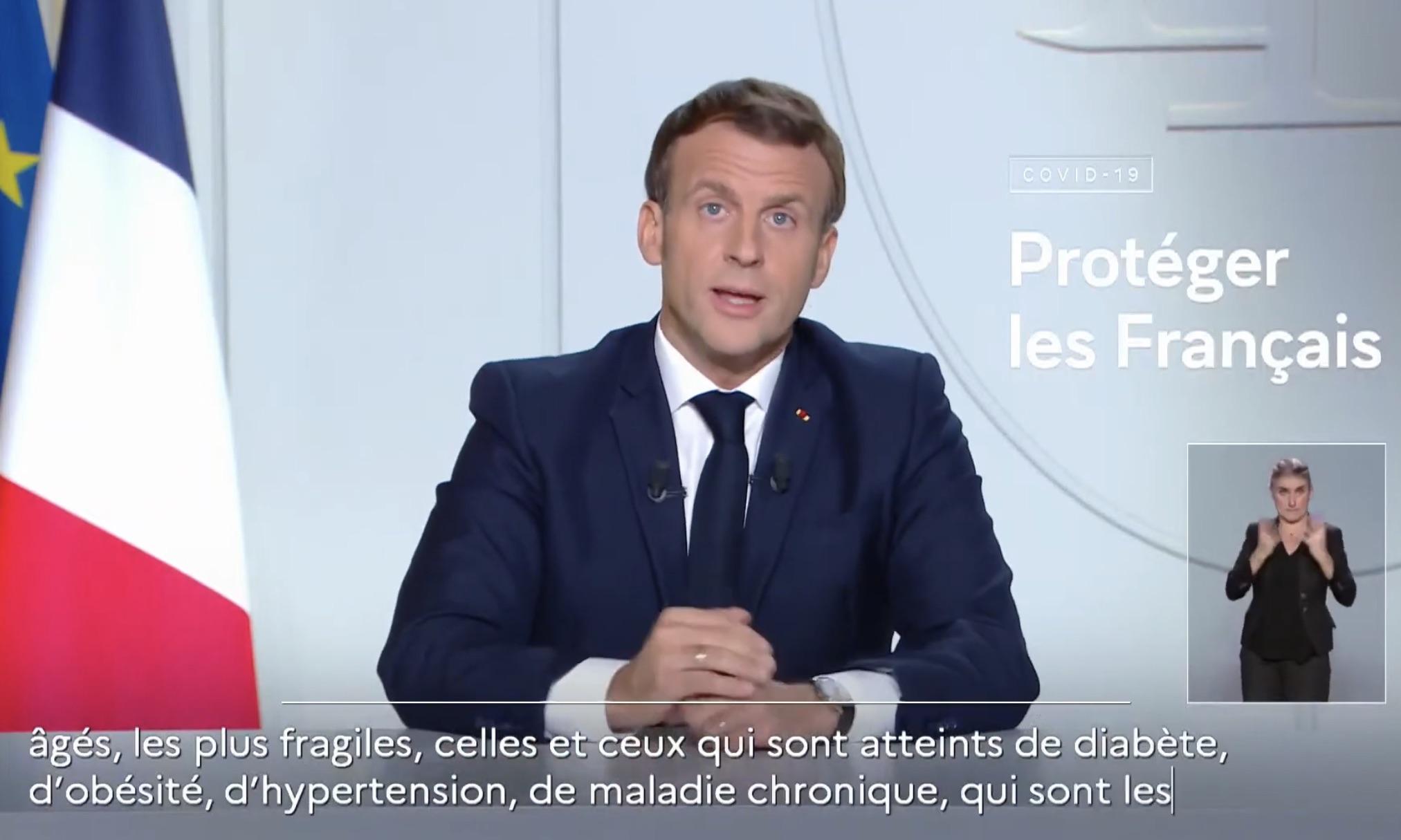 Reconfinement : le Président Macron rappelle, une fois encore, qu' « il faut protéger celles et ceux qui sont atteints d'obésité »