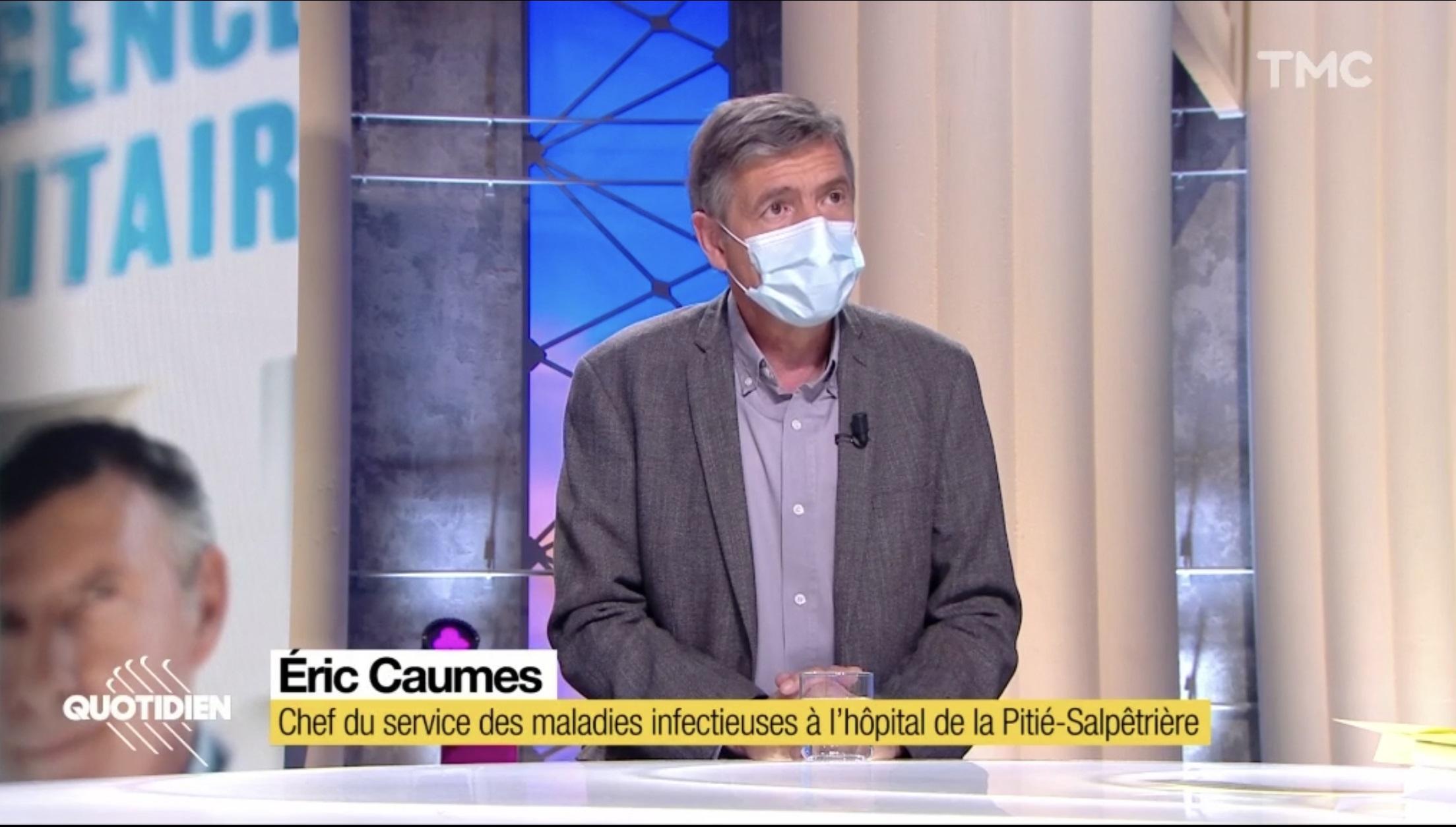 Invité lundi soir de l'émission Quotidien sur TMC, le professeur Eric Caumes, chef du service des maladies infectieuses de l'hôtel de la Pitié Salpêtrière à Paris, n'a pas mâché ses mots. Pour lui, « l'épimédie est hors de contrôle ». Son message : le virus ne concerne pas que les personnes âgées. Pour lui, il faut protéger les personnes atteintes d'obésité.