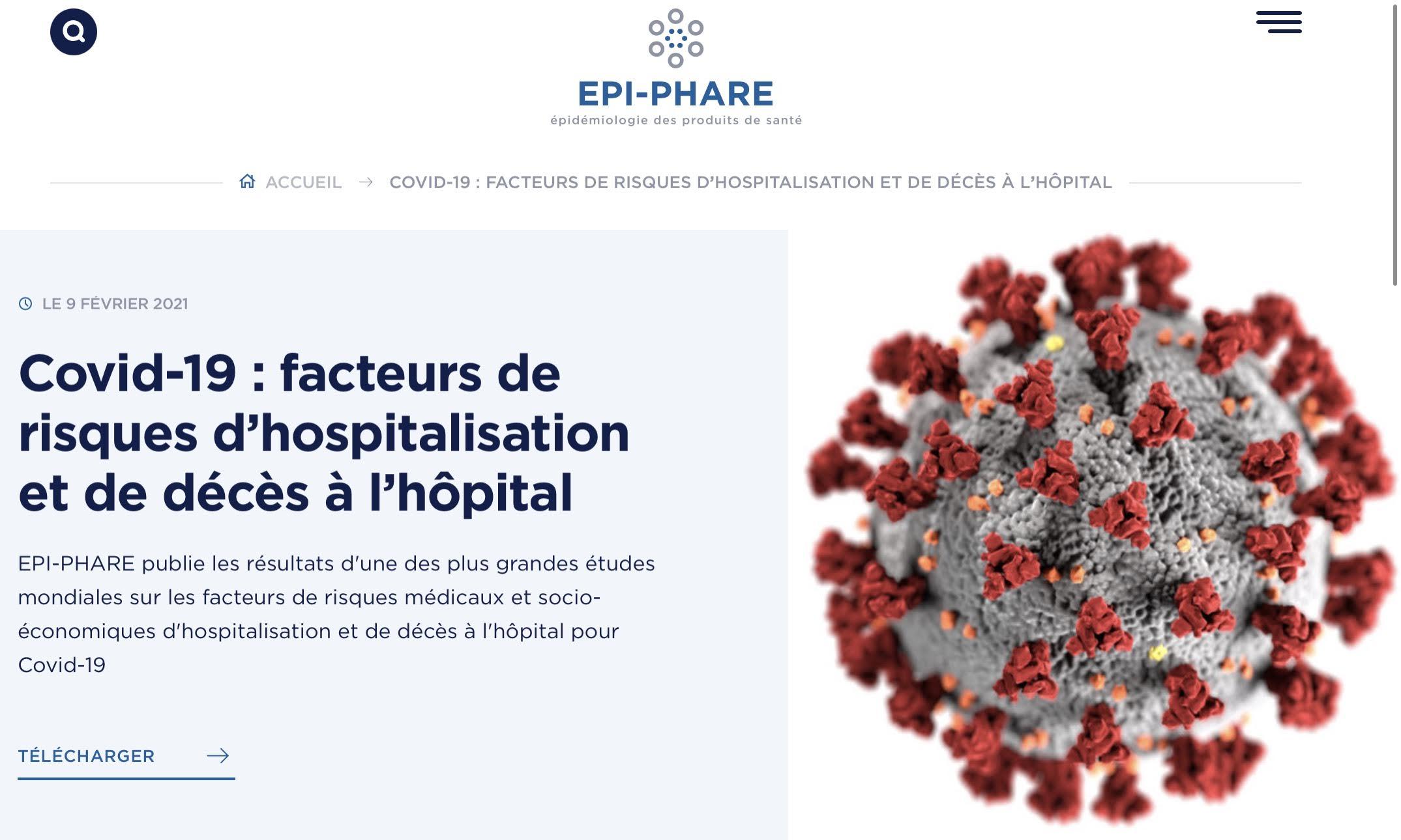 Une vaste étude française menée par le groupement d'intérêt scientifique Epi-Phare entre le 15 février et le 15 juin 2020 sur la quasi-totalité de la population française a permis d'identifier les maladies chroniques et divers facteurs susceptibles de présenter un sur-risque d'hospitalisation ou de décès pour Covid-19. Les résultats viennent d'être révélés. Mais les chiffres de l'obésité ne bénéficient pas de la transparence qu'ils méritent...