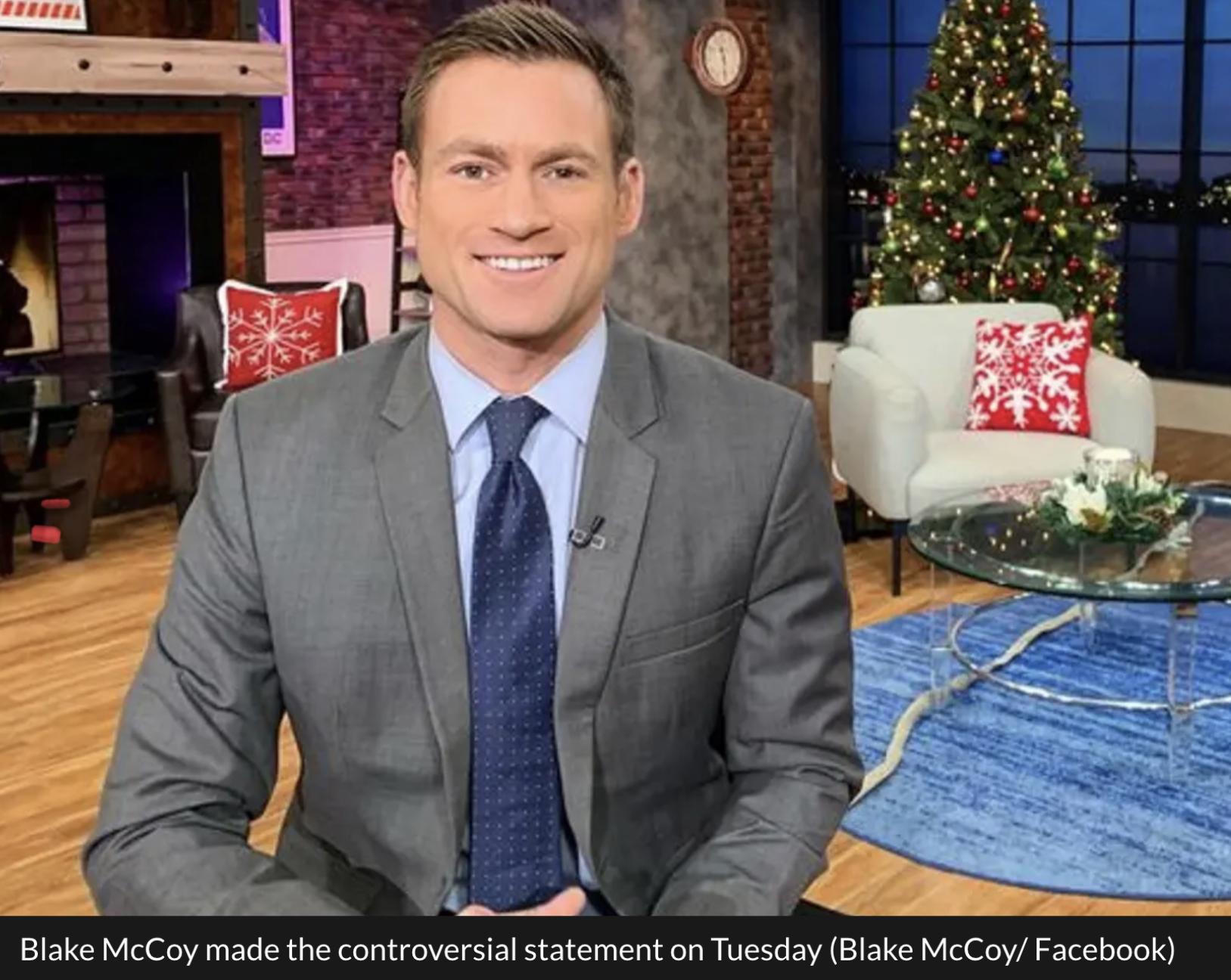 Blake McCoy, qui travaille pour la chaîne d'information Fox 5 à Washington, a été « condamné » par les réseaux sociaux en ligne pour un tweet « blessant et « dégoûtant ». Le présentateur a été retiré de l'antenne par sa hiérarchie après avoir dit qu'il était « ennuyé » que les personnes en situation d'obésité soient priorisées pour le vaccin contre le coronavirus. L'onde choc lui a été fatale.