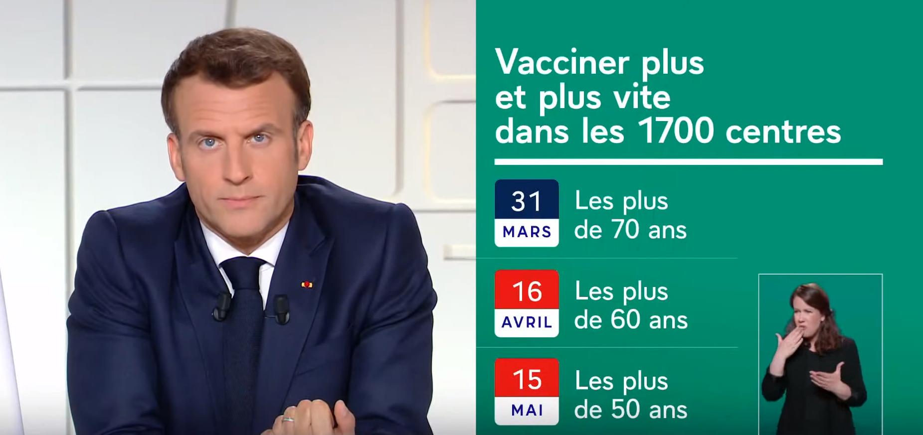 Lors de son allocution télévisée du 31 mars, Emmanuel Macron a redéfini le calendrier vaccinal. Pour la population générale, la vaccination contre la Covid-19 sera élargie à toutes les personnes âgées de plus de 60 ans à compter du 16 avril, puis à toutes celles de plus de 50 ans dés le 15 mai. Une accélération qui ne prend toujours pas en compte les personnes en obésité âgées de moins de 50 ans.